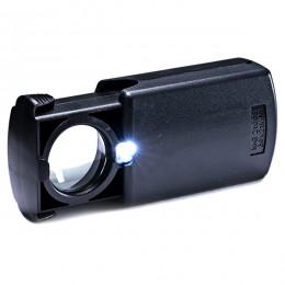 Лупа с подсветкой «Следопыт», кратность 30 х, d л. 21 мм,с компл. батареек, вес 31г/PF-SM-03L