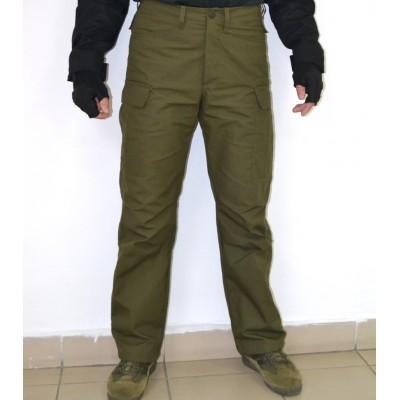 Тактические брюки модель BDU утепленные на ФЛИСЕ, олива