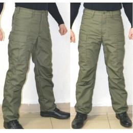Тактические брюки модель BDU утепленные на ФЛИСЕ, хаки