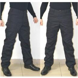Тактические брюки модель BDU утепленные на ФЛИСЕ, темносиние
