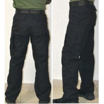 Тактические брюки модель BDU утепленные на ФЛИСЕ, черные