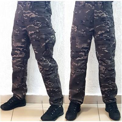 Тактические брюки модель BDU, мультикам-ночь
