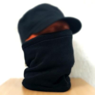 Бафф, шарф-труба, черный (Black), материал Флис.