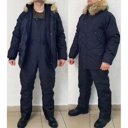 Зимний непромокаемый костюм «Хаски», Чёрный