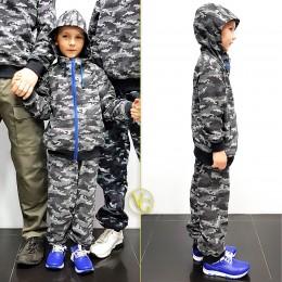 Детский камуфляжный спортивный костюм VG Active Camo КМФ Grey