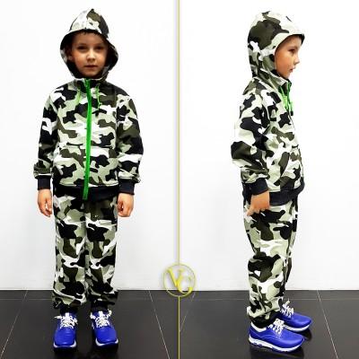 Детский камуфляжный спортивный костюм VG Active Camo КМФ Весна