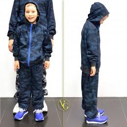 Детский камуфляжный перфорированный  костюм VG Active Camo Синий