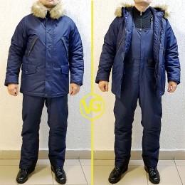 Зимний костюм для рыбалки «Хаски», Синий