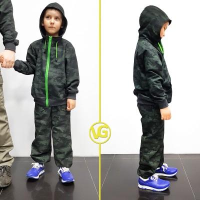Детский камуфляжный спортивный костюм VG Active Camo Green