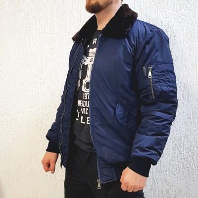 Куртка «Пилот» Военград, зима, синяя