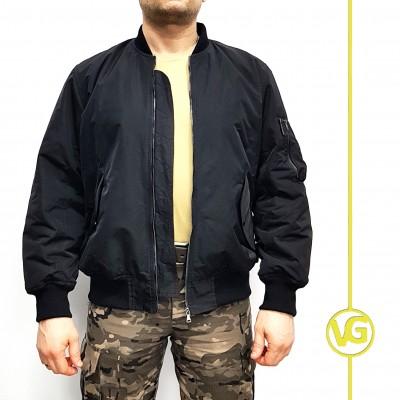 Куртка «Пилот» ВГ с черной подкладкой, демисезон, черная