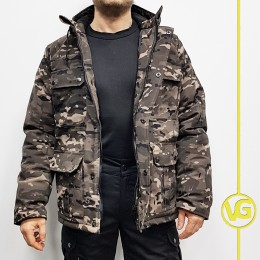 """Куртка зимняя ВГ в расцветке """"мультикам ночь"""", рип-стоп"""