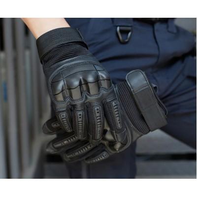 Тактические защитные перчатки  для охоты, стрельбы, страйкбол, сенсорный пейнтбол, черные