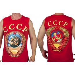 Майка с гербом СССР, красная
