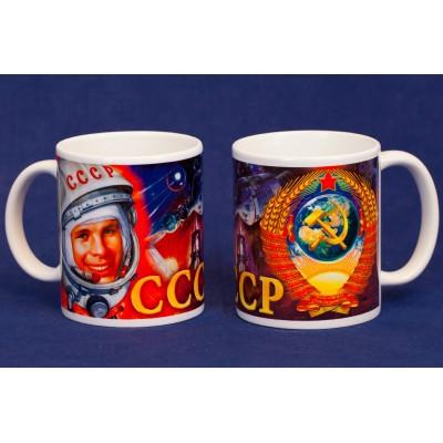 """Кружка """"Советский Союз, Гагарин"""""""