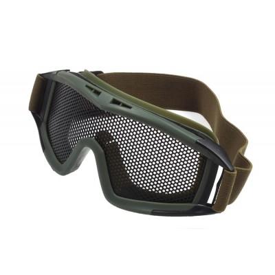 Тактические очки для страйкбола с сеткой Tactical glasses Olive