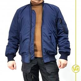 Куртка «Пилот» ВГ с черной подкладкой, демисезон, синяя