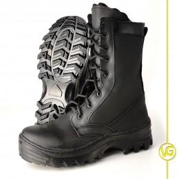 Ботинки с высокими берцами М.205 на флисе(цвет чёрный)