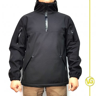 Куртка Военград «Анорак софтшелл», цвет Черный