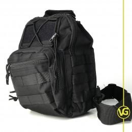 """Многофункциональная тактическая сумка - рюкзак. Schulter-Umhängetasche, """"MOLLE"""" черная"""