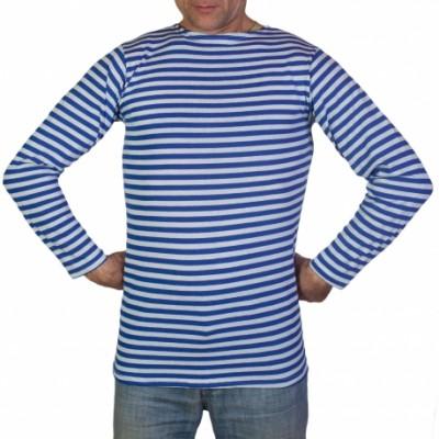 Тельняшка мужская с длинным рукавом (голубая полоса)